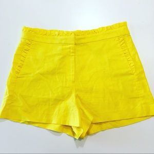NWOT Bright Yellow High Waist J. Crew Shorts